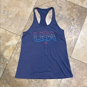 Under armour USA women's racer back tank